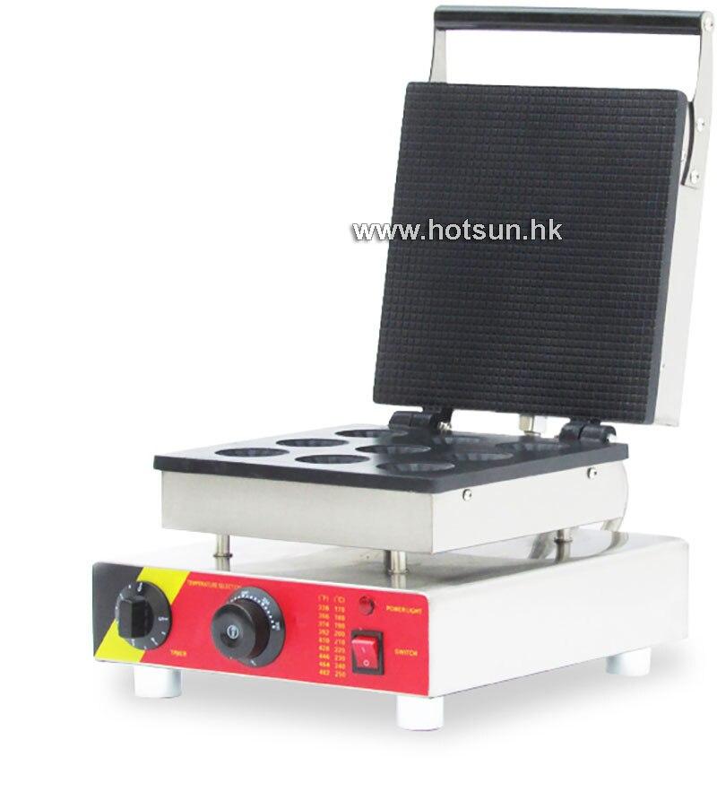Commercial Non-stick 110V 220V Electric 9pcs Waffle Pancake Maker Iron Machine