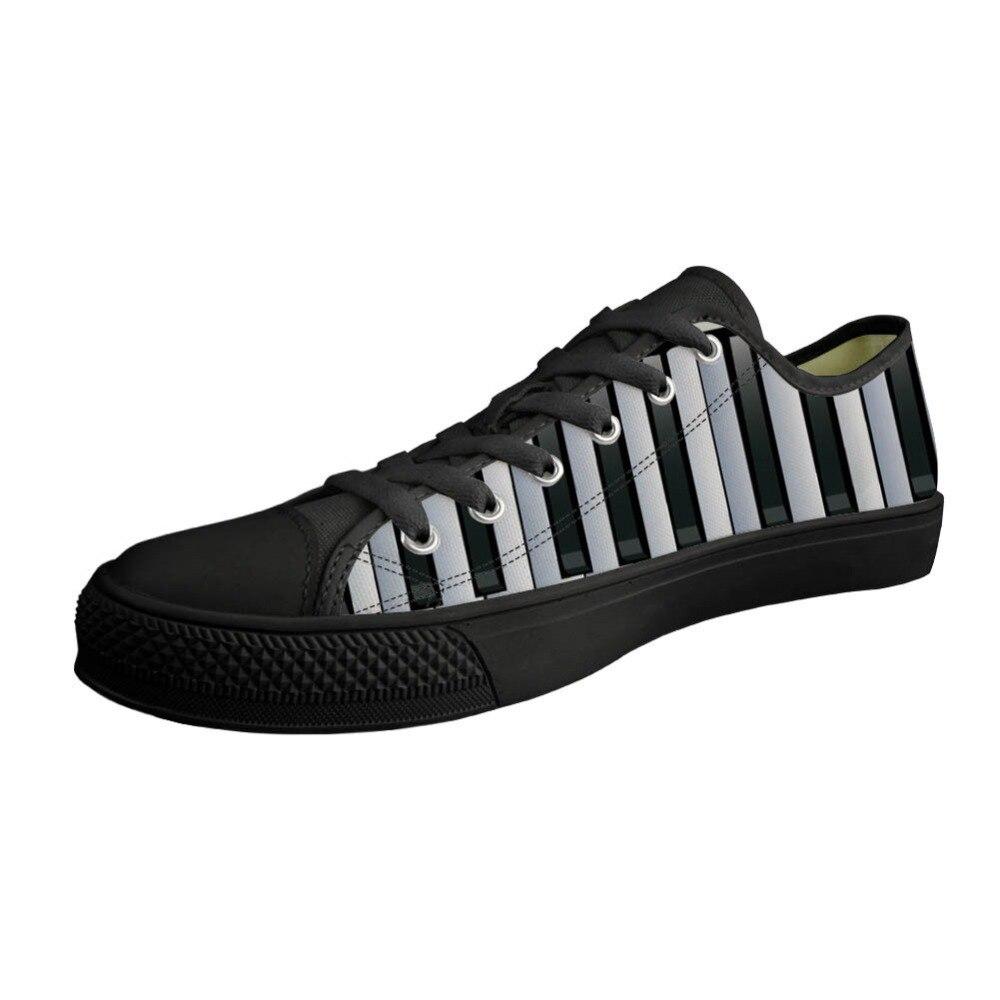 Chaussures à lacets sur mesure pour hommes chaussures en toile basses Notes de musique avec clavier Piano impression printemps baskets pour hommes confort vulcanisation appartements