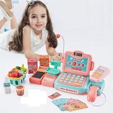 24Psc/set Electronic Supermarket Cash Register Kits Kids Toy Simulated Checkout