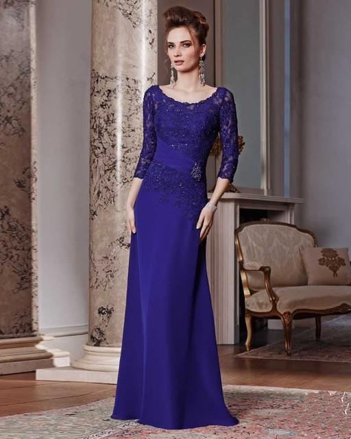 Vestido De Madrinha De Casamento Long Mother Of The Bride Dresses with  Sleeves Purple Mother Of 85002b5e7580