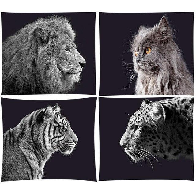 Boho Böhmischen Mandala Wandteppich Hängen Lion Tigers Strand Matte Tier Party Dekoration Schwarz Hintergrund Fotografie Hintergrund
