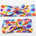 Retail 1Set Lovely Mommy and Me Matching Headbands Adult and Kids Children Rabbit Ears Elastic Bowknot Headband