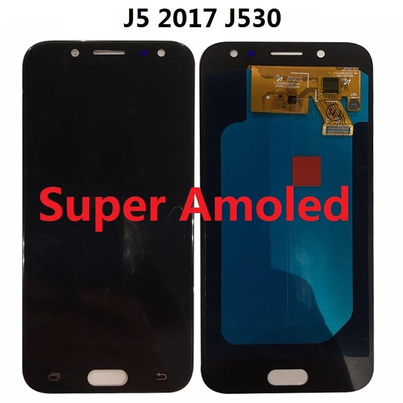 Super Amoled pour SAMSUNG GALAXY J5 2017 J530 J530F SM-J530F écran LCD tactile numériseur capteur assemblée 5.2 pouces