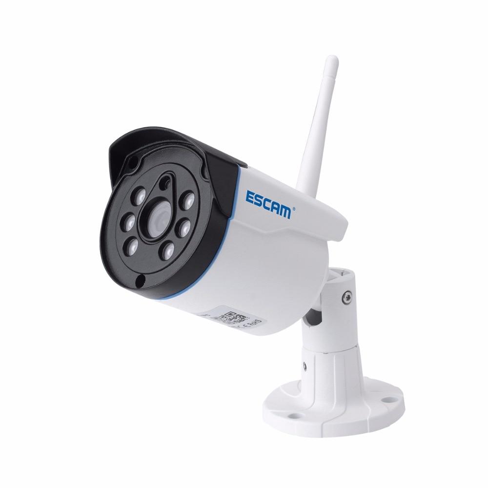 ESCAM 720P Wireless IP Bullet Camera 4CH NVR Kit