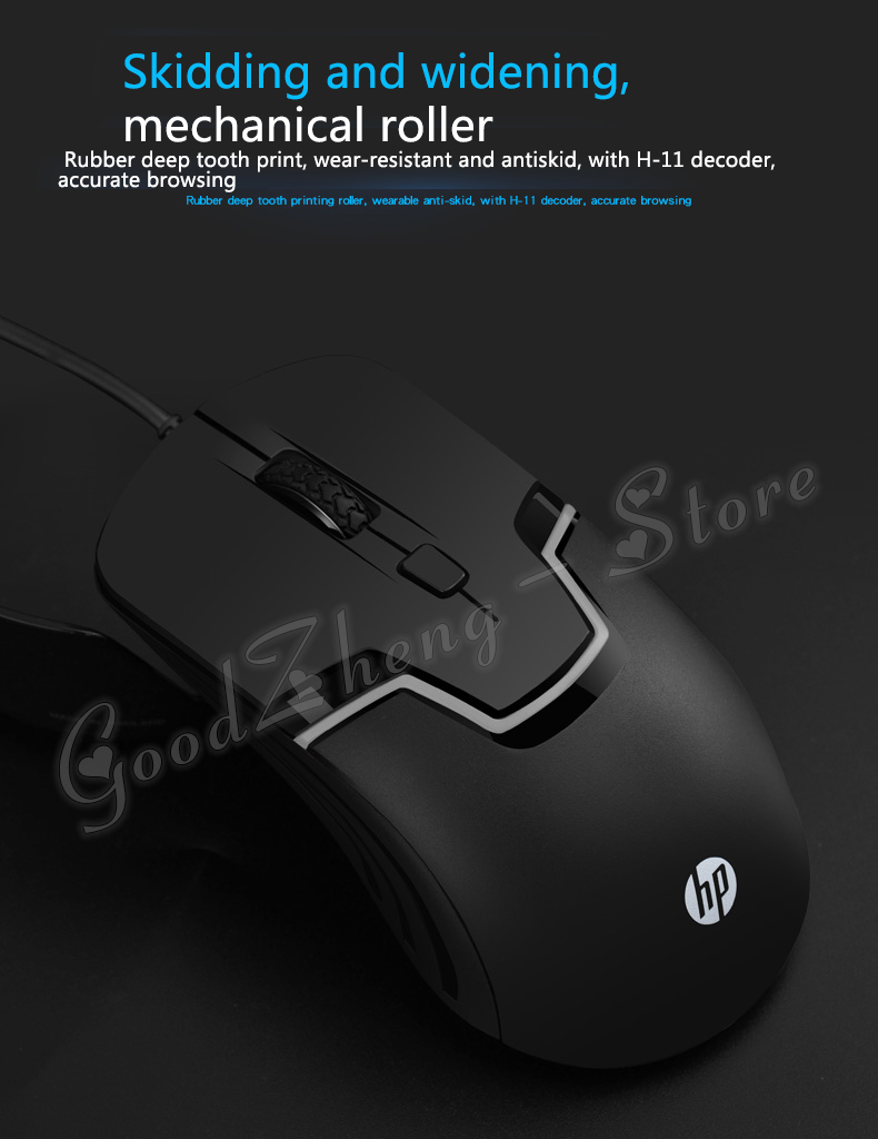 Hp M100 Wired Optical 1600dpi Usb Laptop Pc General Cable Backlight Mouse Gaming Colour Black