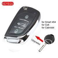 Keyecu는 Smart 315 Forfour  Mitsubishi Colt 433-454 P/N: MN901621 용 원격 키 Fob 2005 MHz/2012 MHz 업그레이드