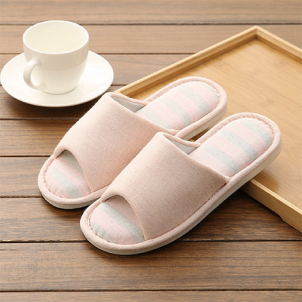 Woman Man New PVC+Cotton Slippers Indoor Chaussures Non-slip Shoes Femme Mules Fur Slippers Household Shoes Winter Autumn jooyoo 5