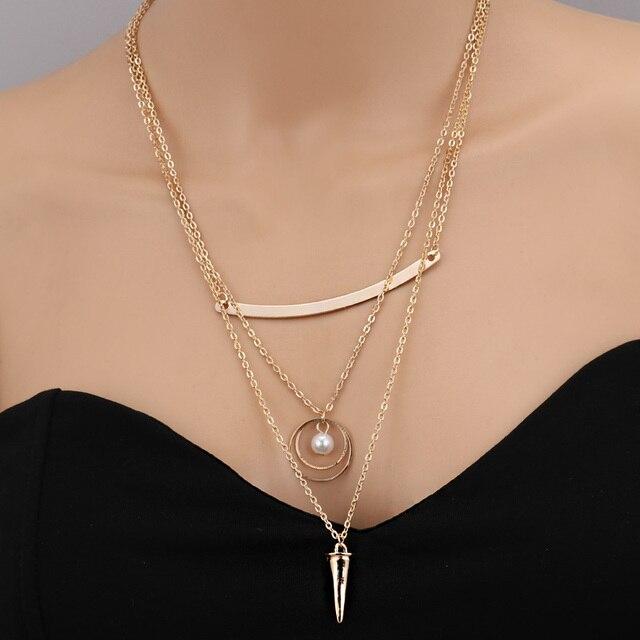 Seblasy offre spéciale multi-couche feuilles lune Hamsa simulé à la main-perle coeur chaîne colliers et pendentifs pour les femmes cadeaux accessoires