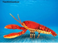 about 45cm lovely red lobster plush toy soft doll birthday gift s0118
