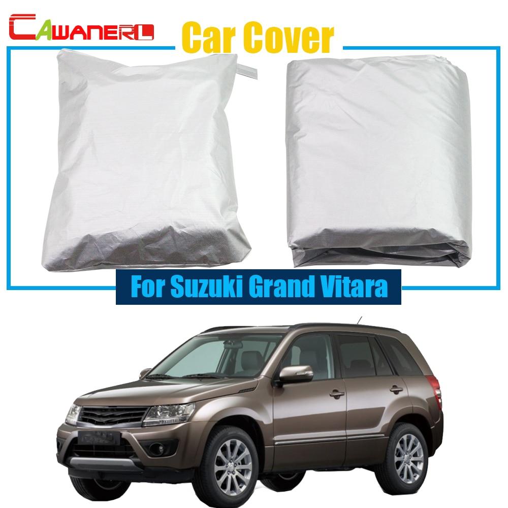 Cawanerl Car Cover Snow Rain Sun Resistant Anti UV Protector Cover Sun Shade For Suzuki Grand