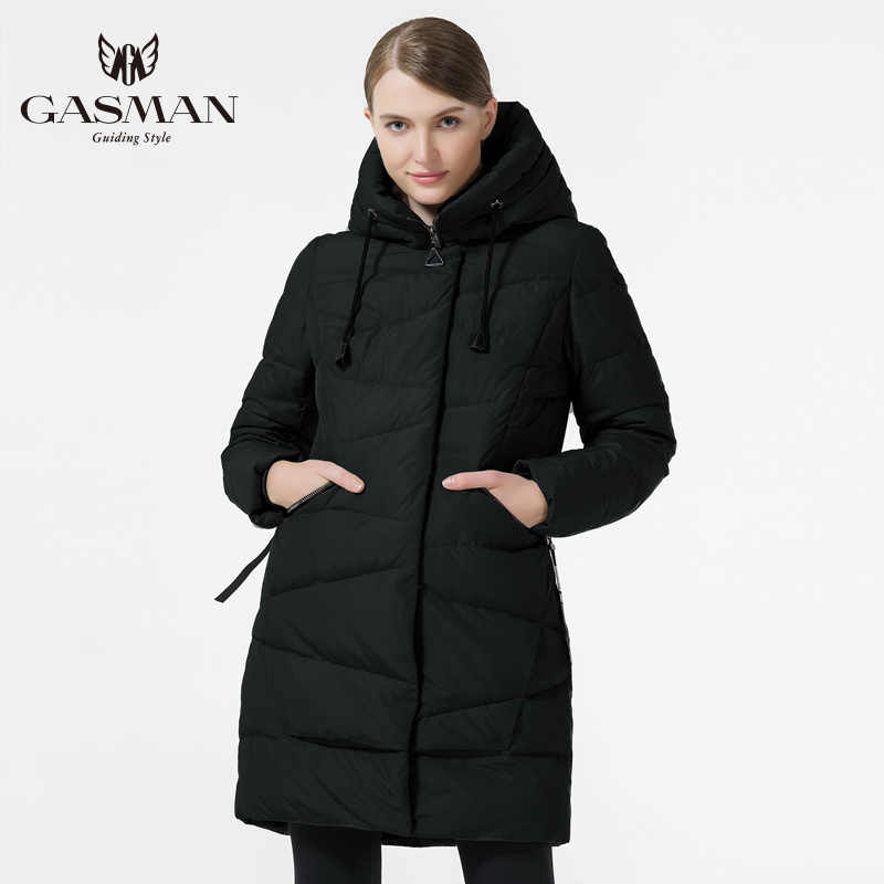 GASMAN 2019 Fashion Women 'S Winter Warm Coat Hooded Jacket Winter Women Thick Parka Coat Down Female fashion