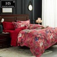 Красный 3D цветочный принт комплект постельного белья s кашне набор пододеяльников для пуховых одеял постельное белье и одеяла King size Комплек