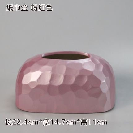 Современная керамическая золотая коробка для салфеток для дома простая гостиная ресторан отель бумажная коробка для хранения полотенец настольные украшения - Цвет: C