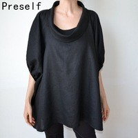 Women-Cozy-Cowl-Neck-Batwing-Sleeve-Cotton-Linen-Oversized-Split-Tunic-Shirts.jpg_200x200
