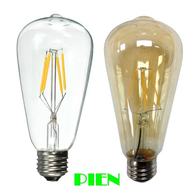 st64 led filament bulb 2w 4w 6w e27 40w 60w incandescent. Black Bedroom Furniture Sets. Home Design Ideas
