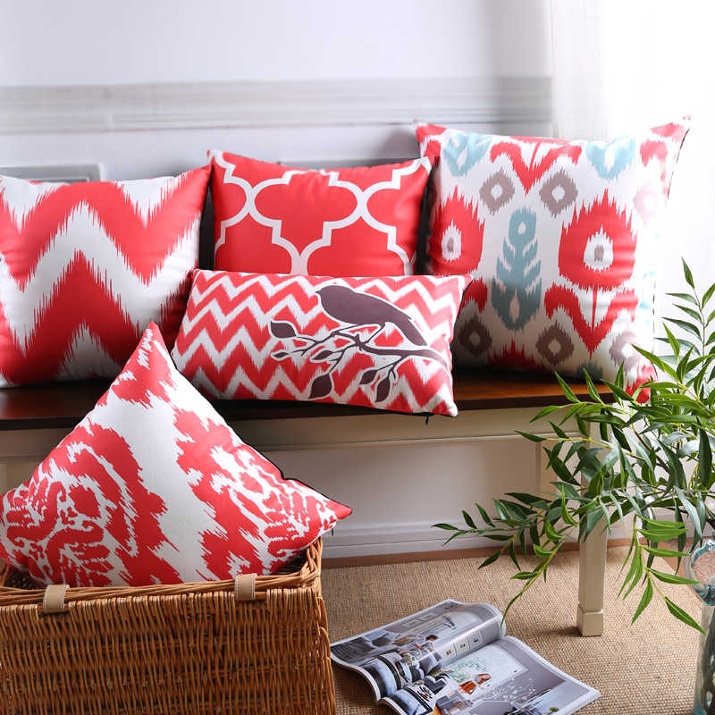 Scandinavian Decorative Pillows Case Geometric Cushion Cover Home