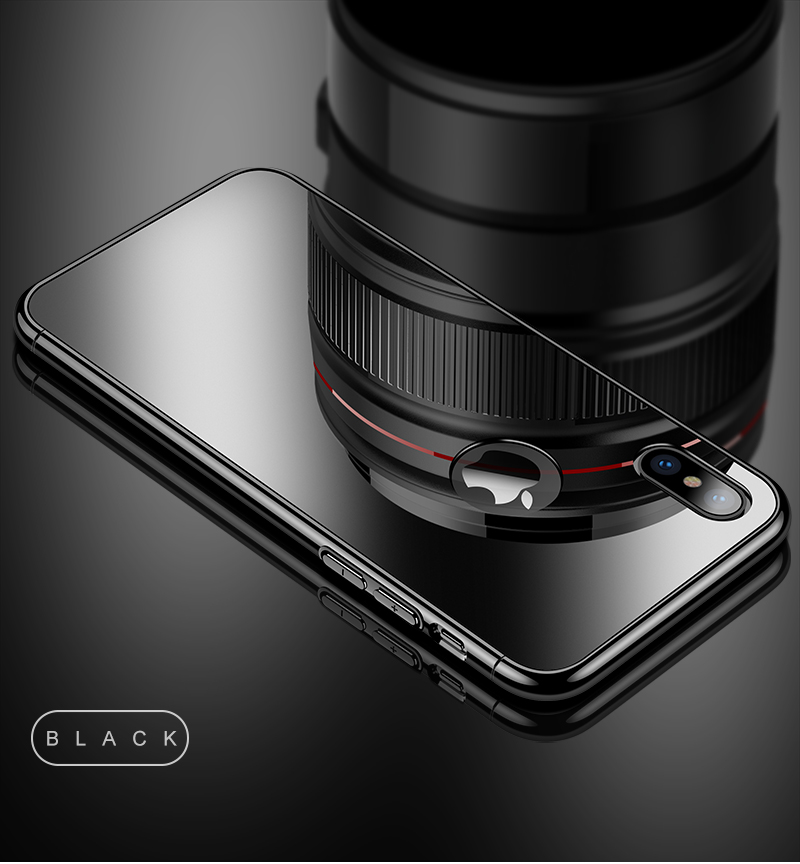 CAFELE Luxury Case For iPhone X 10 plating frame Tempered 3 in 1 Glass Ultra Thin color Glass Back Cover For iPhones X 10 Cases (13)