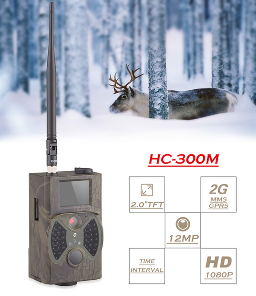 Outdoor Night Vision Hunting Camera HC-300M Hunting Animal Photo Traps Camera Motion Trigger Invisible 940nm Wildlife Cameras hunting camera 940nm 12mp photo traps infrared night vision motion detection outdoor wildlife trail cameras trap no lcd screen