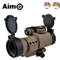 Aim O Tactical Riflescope M2 Red/Green Dot With L Shaped Mount Holographic Telescope Airsoft Scope Sight AO5020 Hunting Optics