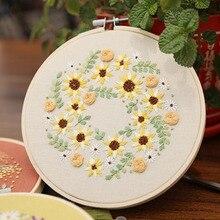 С красивым цветочным рисунком вышивка крестиком Материал пакет DIY вышивальные наборы для рукоделия практичный ручной работы вышитый Материал s