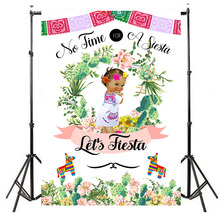 Mexican Fiesta Baby Shower Backdrops Taco Bout Little Girl Photography Background Party Banner Supplies