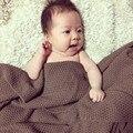 Frete Grátis Venda 1 Pc/lote Lã Cobertor/Manta De Algodão Verão/Europa de Todos Os Coincidir com Sólida Bebê Cobertor Cochilo