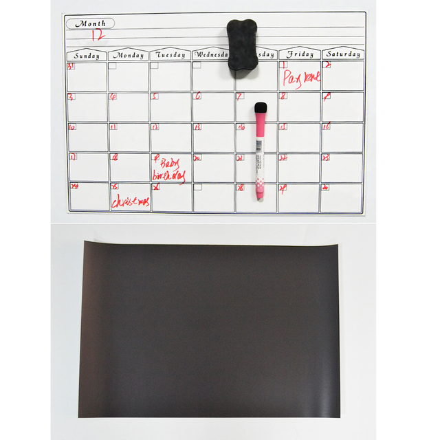 Umitive 1pcs Magnetic Dry Erase Calendar for Fridge White Board Family Schedule Week Monthly Planner waterprooftime management 2