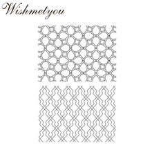 WISHMETYOU New Design Hollow Pattern Transparent Silicone Clear Stamps Diy Scrapbooking Photo Album Decor Creative Wave Crafts