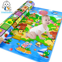 New Arrivel Doulble Site Baby Play Mat 2 1 8 Meter Fruit Letters And Happy Farm