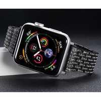เพชรสำหรับ Apple Watch 5 4 band 44 มม.40 มม.Aple นาฬิกา correa 42 มม.38 มม.สแตนเลสสร้อยข้อมือ iwatch 5 4 3 2 1 Watchband