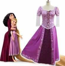 2019 Rapunzel cosplay costume princess Tangled Sofia dress Halloween Costume for women long Carnival Evening party dresses girl