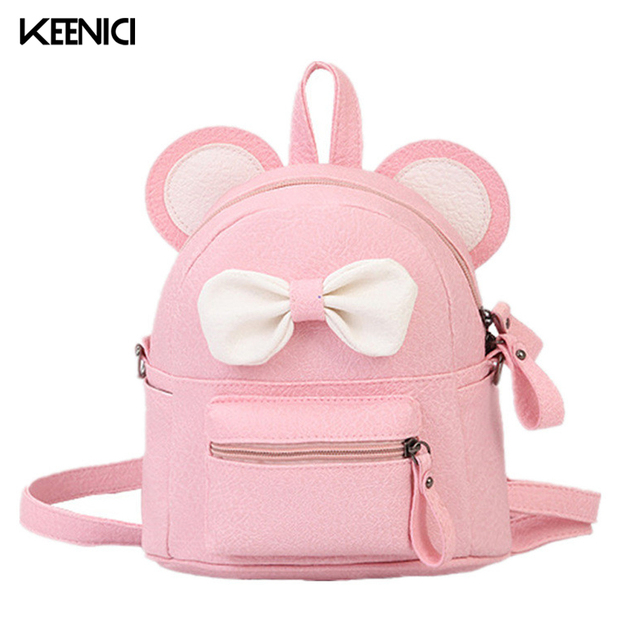 77201bebeb2 Fashion Lovely Bow Backpack Pink Dual-use Small Bags Children School Bag  Simple Small Bow Cute Little Shoulder Bag LZ