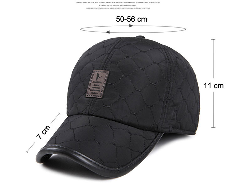 fee2caf2fa5 New Winter Warm Baseball Caps for Men Thicken Fleece Cap Baseball Hats with Ear  Flaps Male Bone Snapback Outdoor Cap for Father
