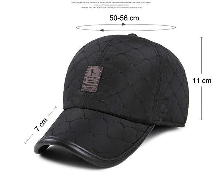 3927487fd ... New Winter Warm Baseball Caps for Men Thicken Fleece Cap Baseball Hats  with Ear Flaps Male