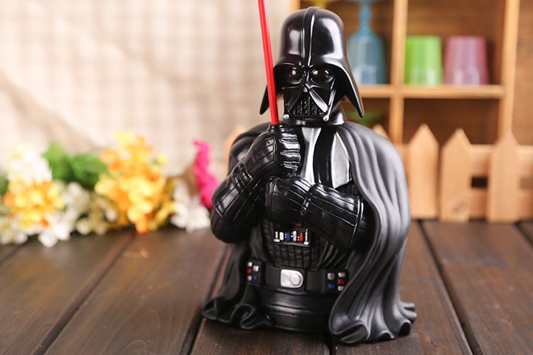 Movie Star Wars Darth Vader Piggy Bank Save Money Box PVC Action Figure Collectible Model Toy 22cm KT425 kung fu panda 3 po piggy bank pvc action figure collectible model toy kids gift 18cm