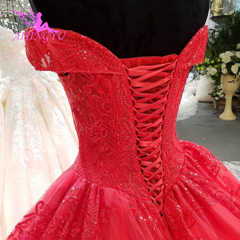 Image 2 - AIJINGYU Ivory Lace Wedding Dress Gowns Xxxl Size 2018 Balls Mother Of The Bride Gown 2019 Big Size Modest Wedding DressesWedding Dresses   -