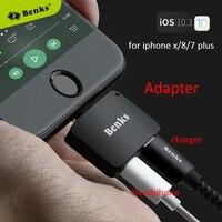 Voor iphone x 10 8 7 plus Audio Adapter benks U29 4 in 1 Dubbele L jack Audio Converter Opladen Hoofdtelefoon Adapter voor iphone x 8