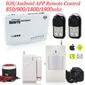 Russian voice Wireless Metal Remote Control Home Security GSM Alarm System IOS/Android APP Smart Voice  Burglar SIM Alarm System