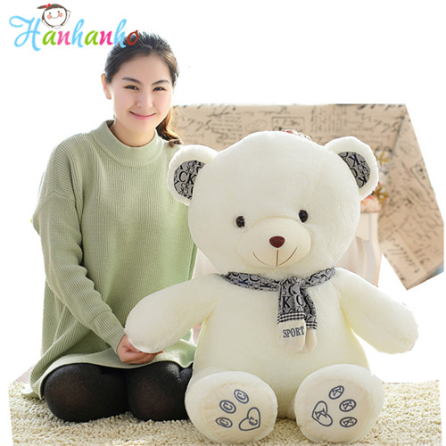 Giant Cute Bear Plush Toy Big Stuffed Animal Doll Children Birthday Gift 60cm/80cm/100cm big toy owl plush doll children s toys simulation stuffed animal gift 28cm