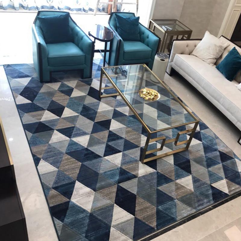 Style nordique Simple doux Polyester tapis pour salon chambre tapis maison tapis délicat zone tapis plancher porte tapis mode tapis
