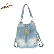 Barredspiral neue hochwertige denim handtasche hochwertigen casual große blaue jeans umhängetasche mode tasche geben schiff frei