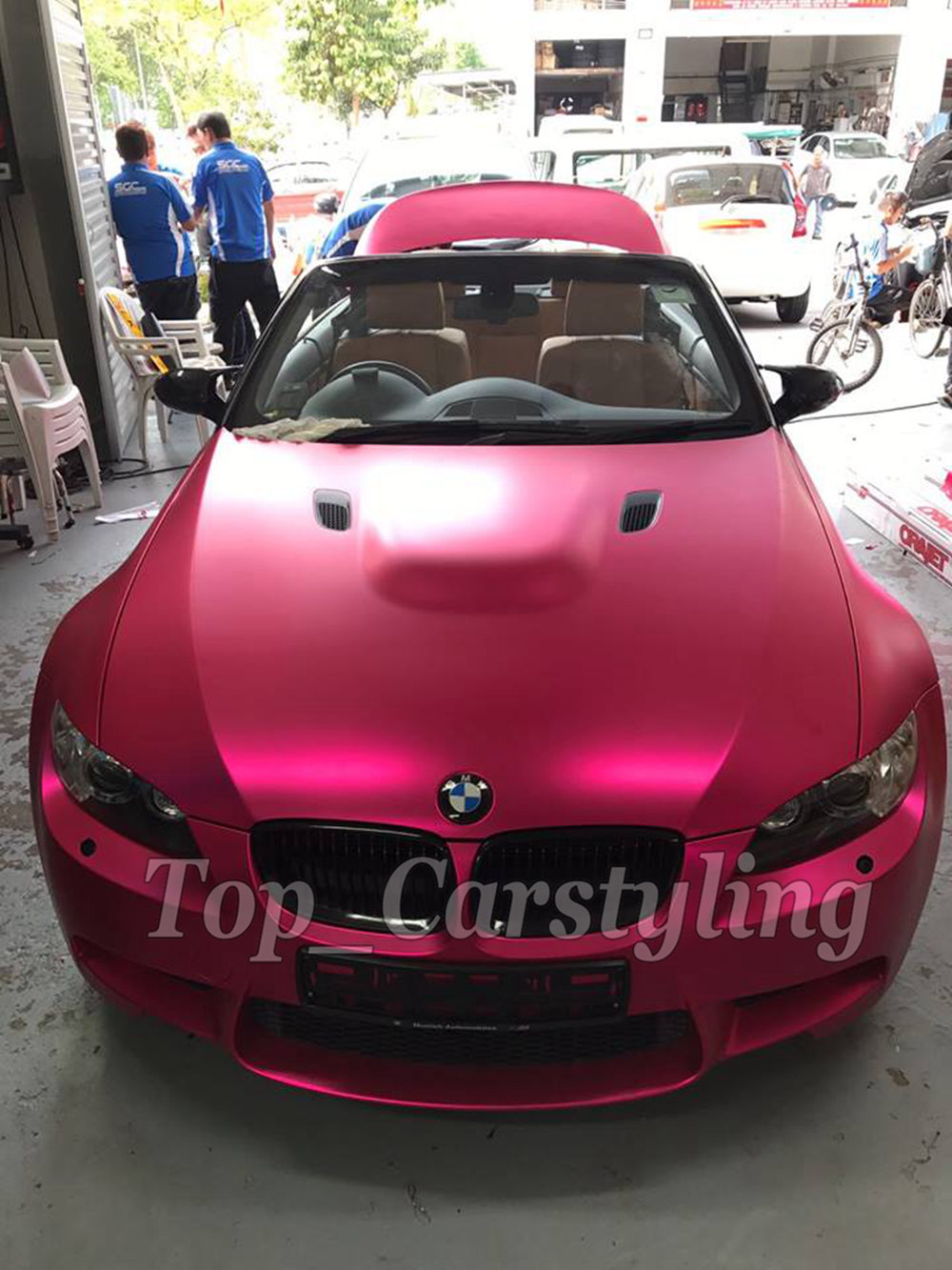 Rose Chrome Satin Matt Car Motorbike Vinyl Vehicle Wrap Air Release A004