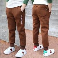 2018 new boy pants plus velvet fall winter children's sweat pants in the Korean version of thicker long slack