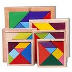 7 Pcs 3D Puzzle Square Toys DIY Wooden Puzzle Geometric Tangram Jigsaw Puzzle Toys Children Wooden Educational Toys