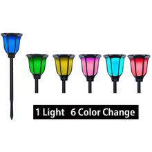 лучшая цена Solar Lights,Waterproof LED Solar Light for Garden Patio Yard Driveway Pathway Landscape Lawn Doorway Lights Patio 6 Colors