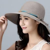 Girls New Foldable Sun Hat Female Summer Sunscreen Cap Wide Brim Students Outside Travel Sun Hat Beach Cap B 8021