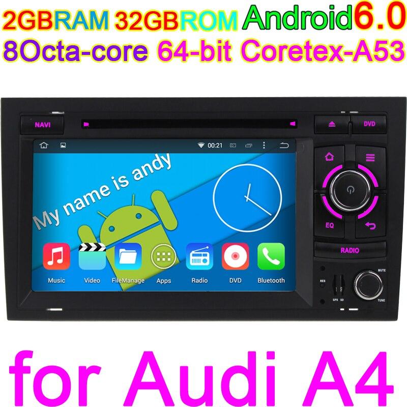 HD 1024*600 Octa Core 2 ГБ Оперативная память Android 6,0 автомобиль компьютера для Audi A4 2002 2007 сиденье exeo 2009 2012 радио gps навигации Системы PC