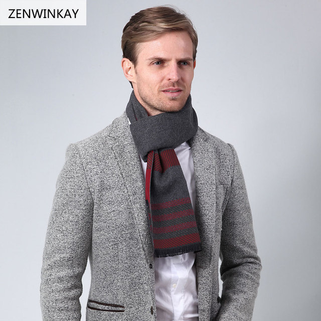 2017 Fashion Neck Scarves Men Scarf Wool Scarf Pashmina ...