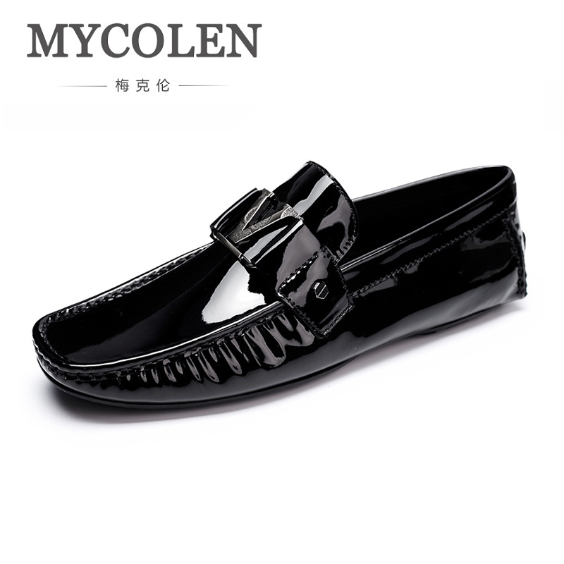 MYCOLEN Italian Mens Shoes Casual Brands Genuine Leather Men Loafers Luxury Moccasins Comfy Slip On Breathable Men Shoes mycolen mens loafers genuine leather italian luxury crocodile pattern autumn shoes men slip on casual business shoes for male