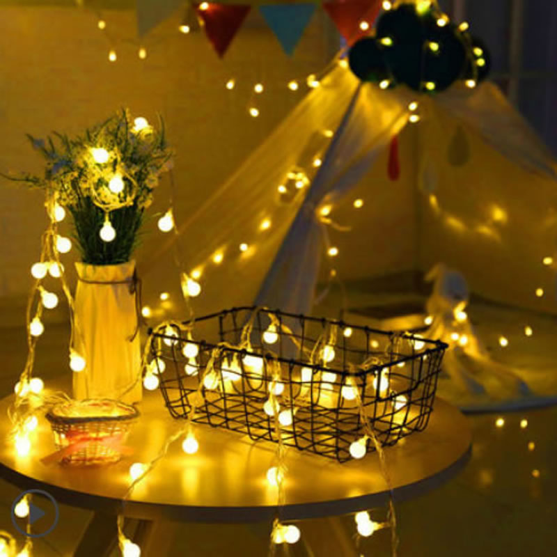 10M led string lights with 100led ball AC220V holiday decoration lamp Festival Christmas lighting